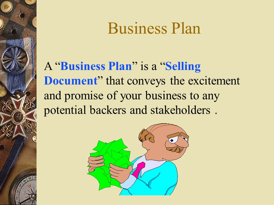 The components of a business plan