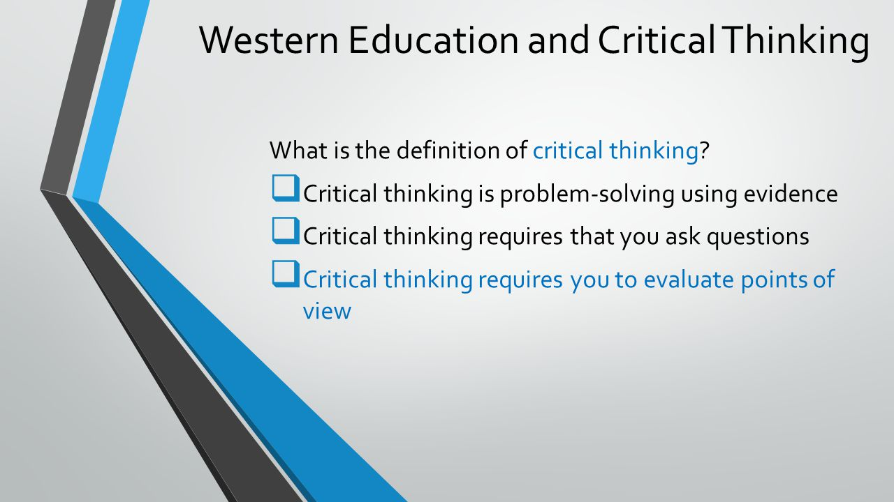 Critical Thinking And Deductive Reasoning