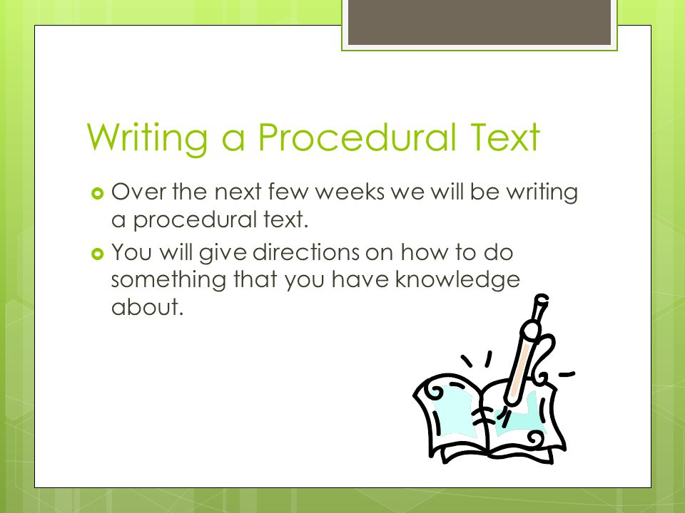 """Presentation """"Procedural Writing Writing a How-To Paper. Writing a ..."""