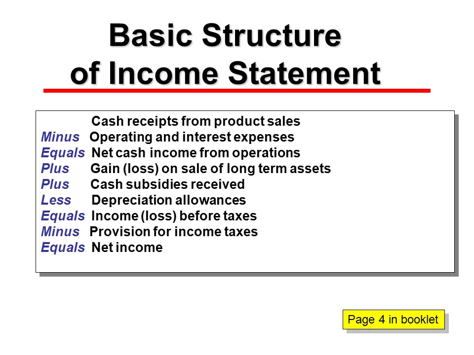 Balance Sheet Structure Net worth or equity is determined residually, balancing the statement