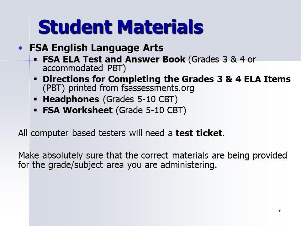 1 Florida Standards Assessment FSA Florida Comprehensive – Fsa Worksheet