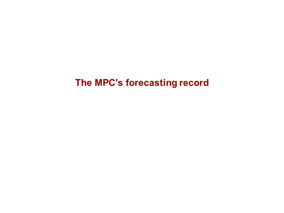 The MPC's forecasting record