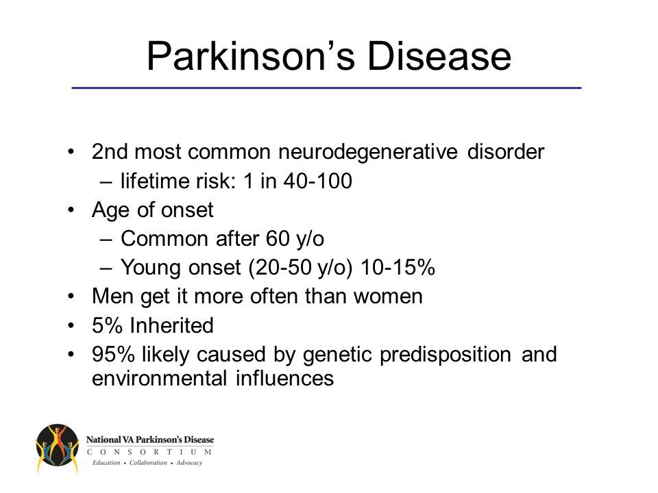 Diagnosis and Treatment of Parkinson's Disease Jeff Bronstein, MD, PhD Professor of Neurology at UCLA Director of the SW PADRECC Director of UCLA Movement Disorders