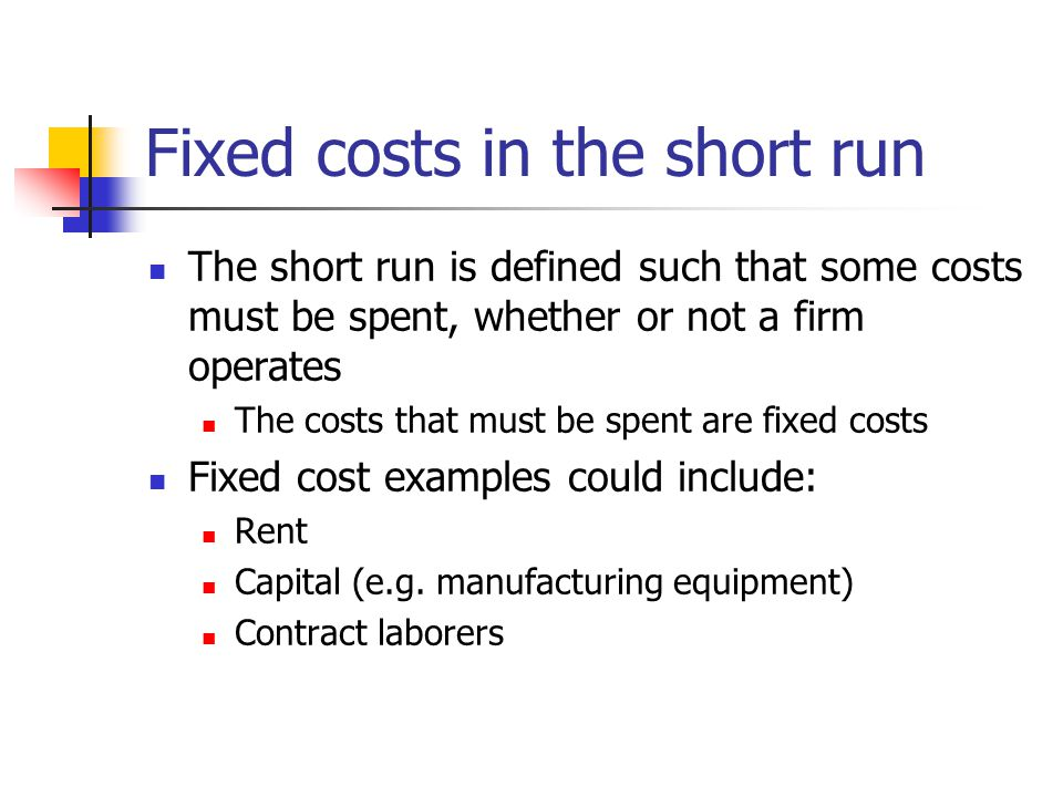 More On Supply Today Supply Curves Opportunity Cost Perfect