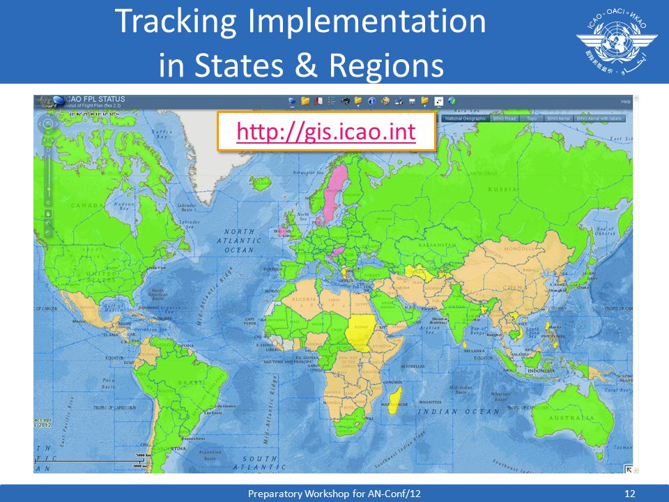 12 Tracking Implementation in States & Regions Preparatory Workshop for AN-Conf/12