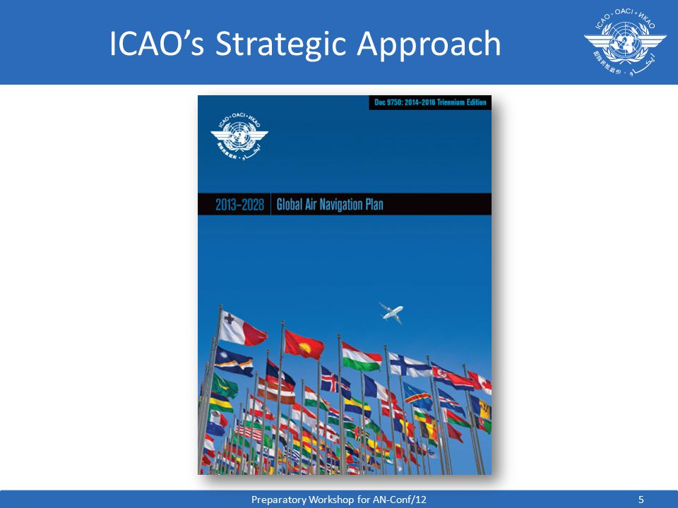 5 ICAO's Strategic Approach Preparatory Workshop for AN-Conf/12