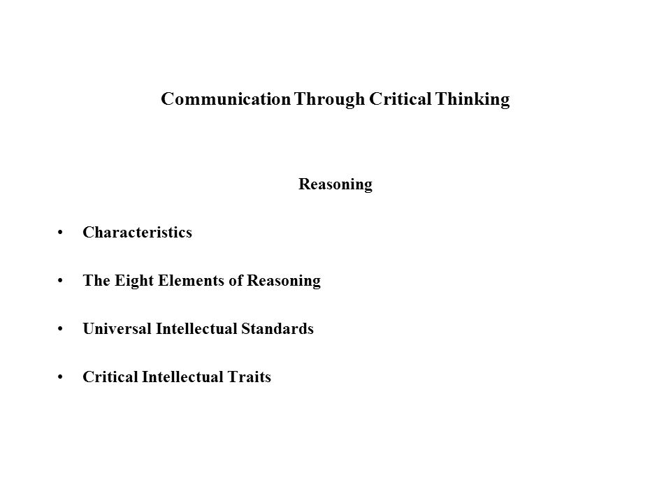 Critical thinking traits