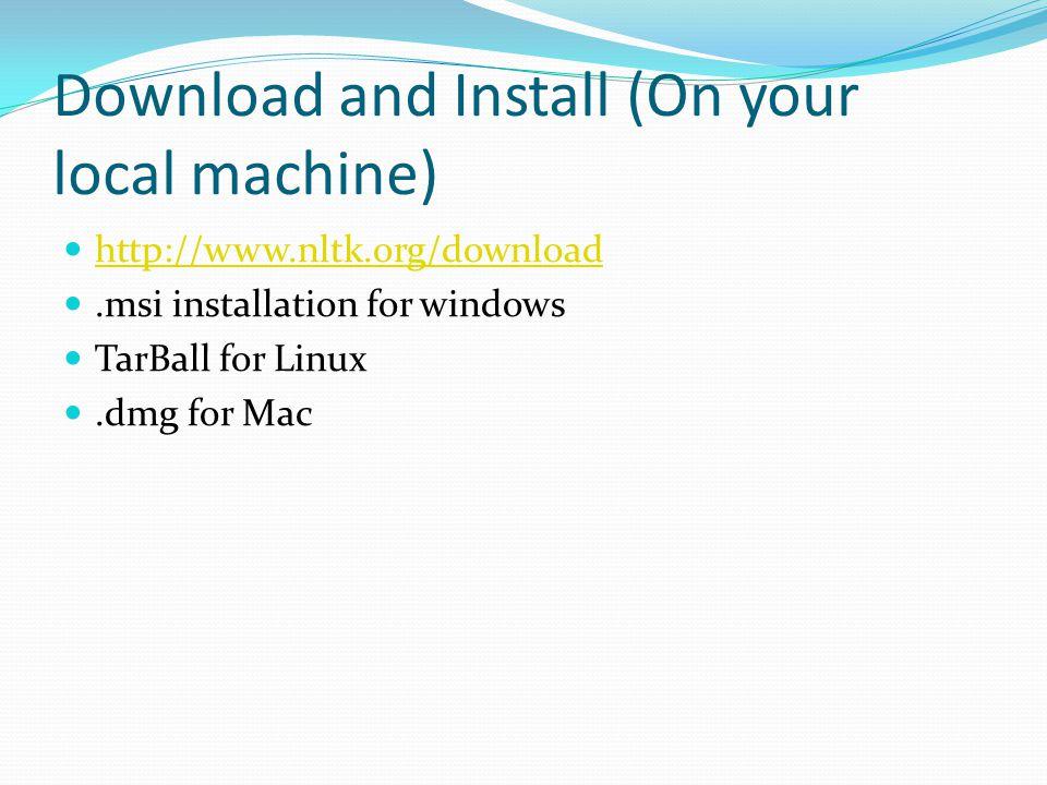 tarball download windows