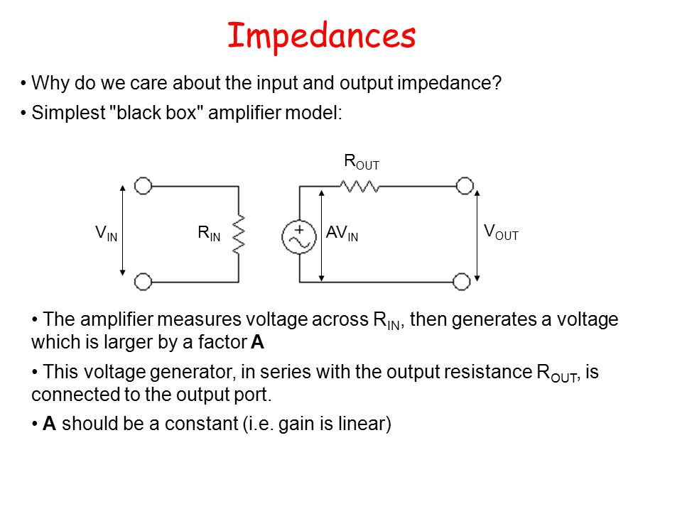 Why do we care about the input and output impedance.