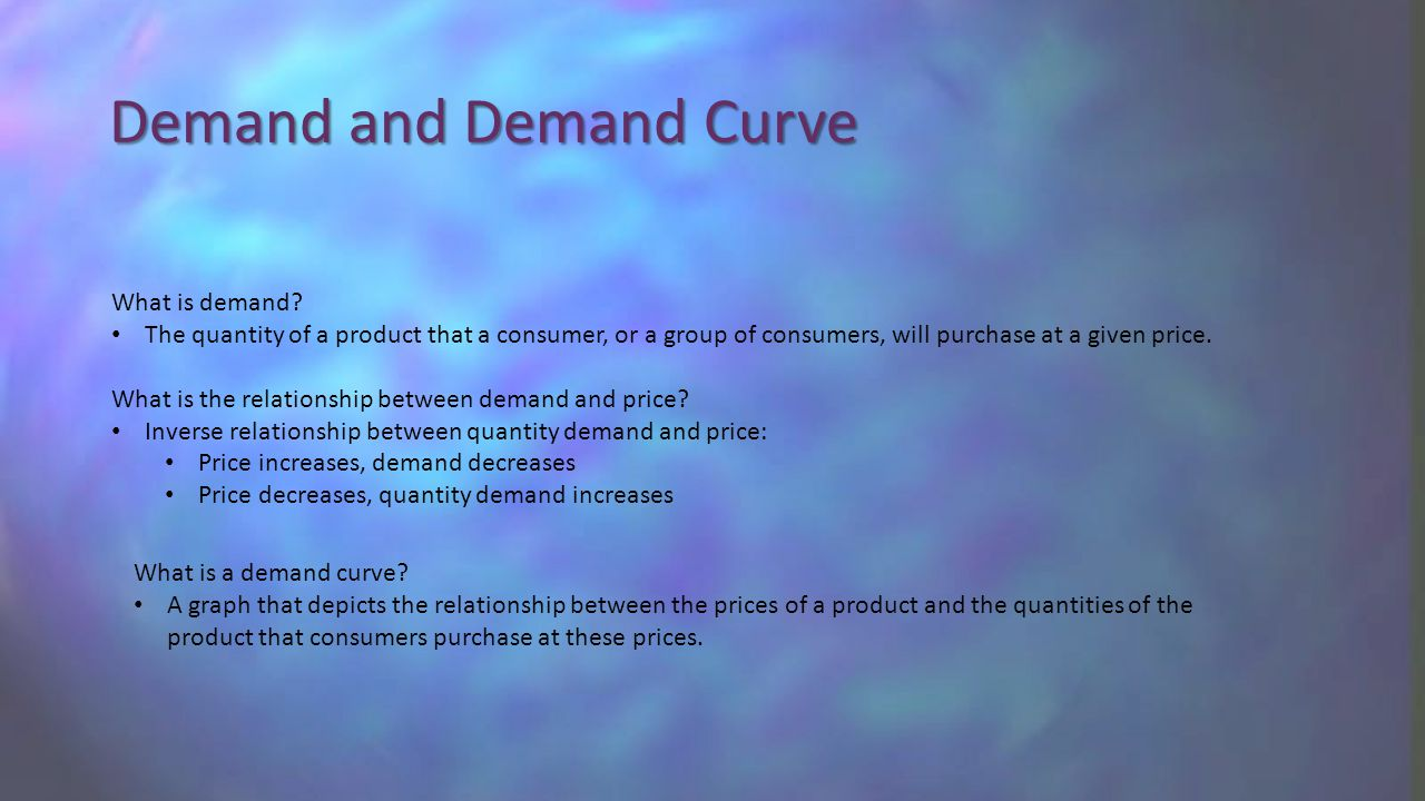 Demand and Demand Curve What is demand.