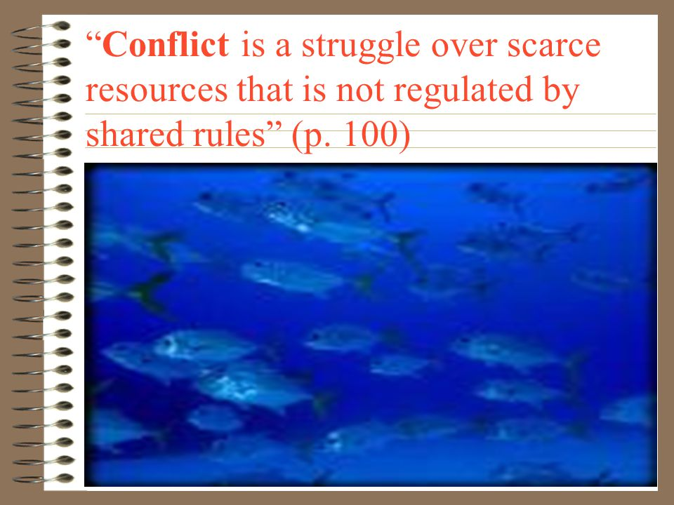 Competition is a struggle over scarce resources that is regulated by shared rules (p. 99).