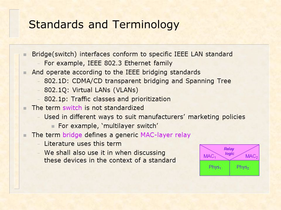 Local Area Networks Content Chapter 14: Advanced Review (Part I ...
