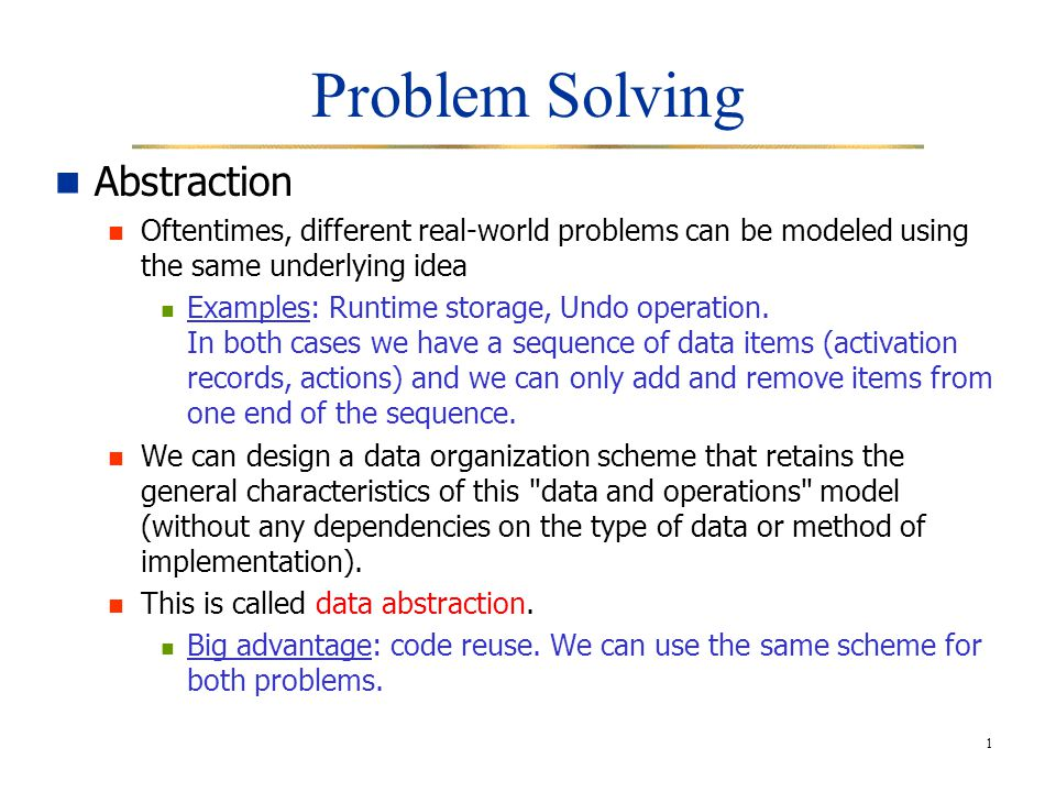 Real world problem solving examples