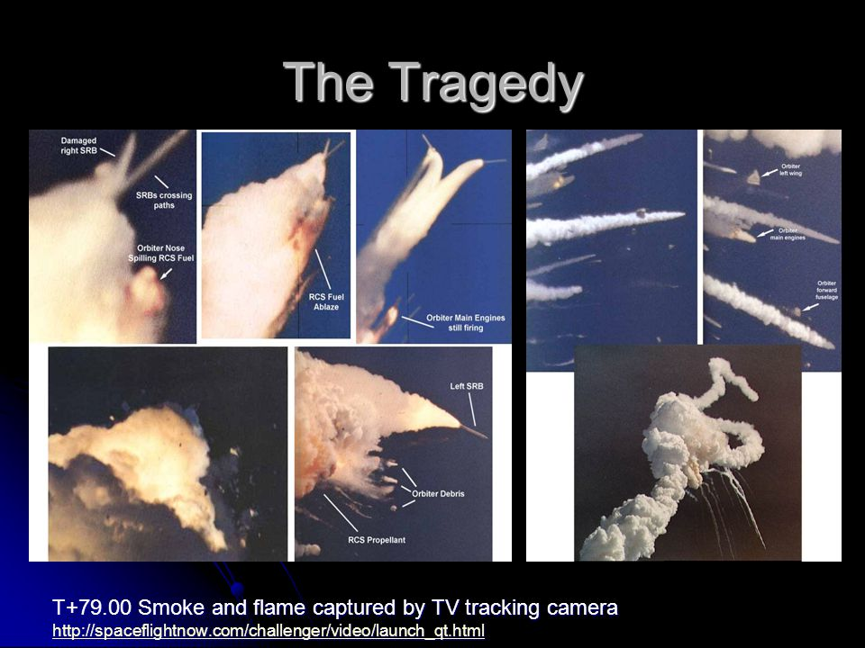 The Tragedy T Smoke and flame captured by TV tracking camera
