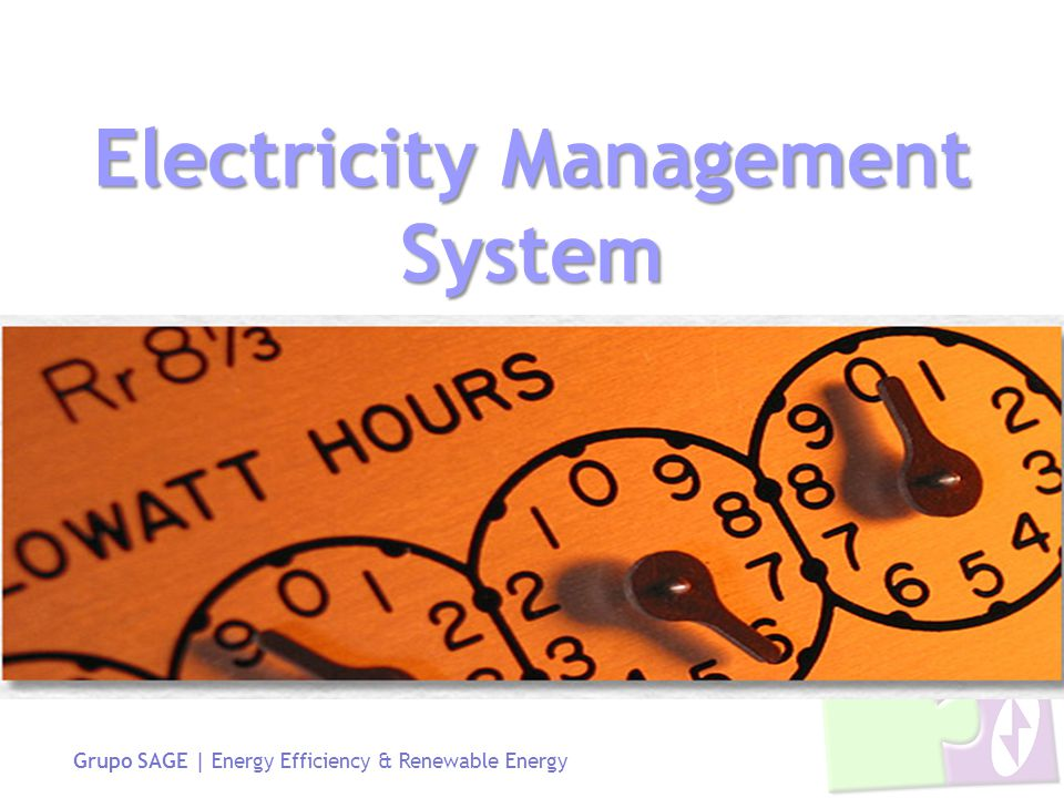 Grupo SAGE | Energy Efficiency & Renewable Energy Electricity Management System