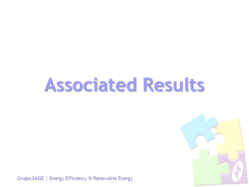 Grupo SAGE | Energy Efficiency & Renewable Energy Associated Results