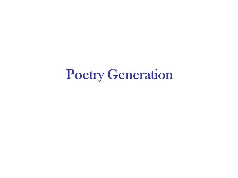 Poetry Generation
