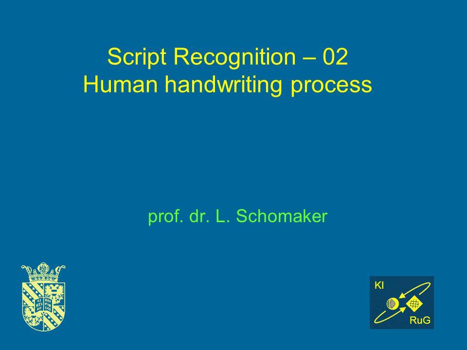 Handwritten Script Recognition Script Recognition – 02 Human