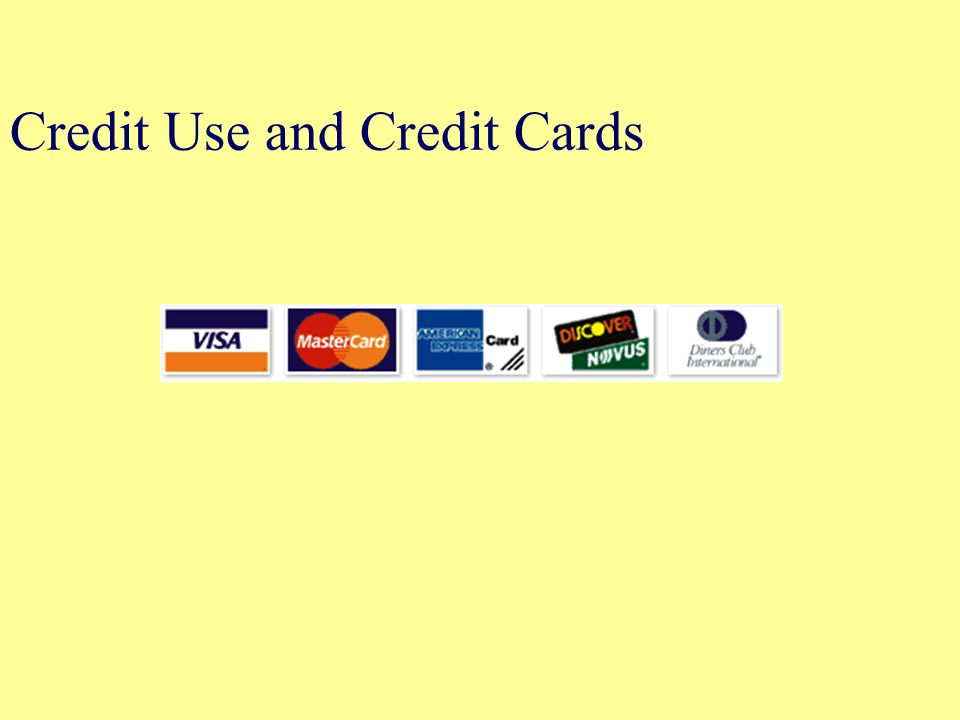 Credit Use and Credit Cards