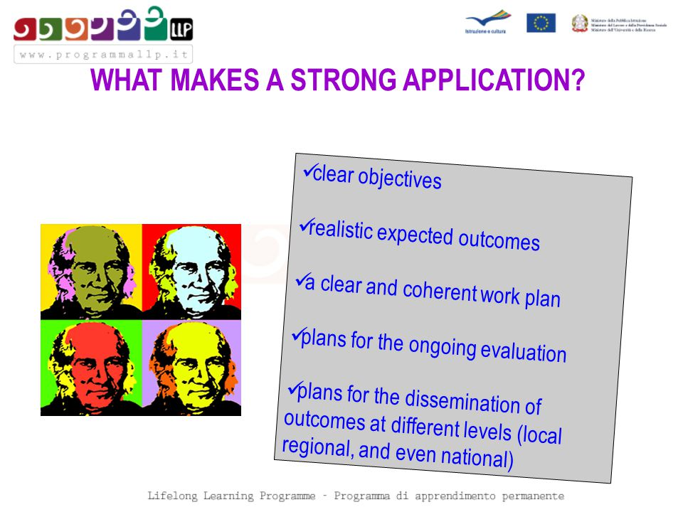 WHAT MAKES A STRONG APPLICATION.