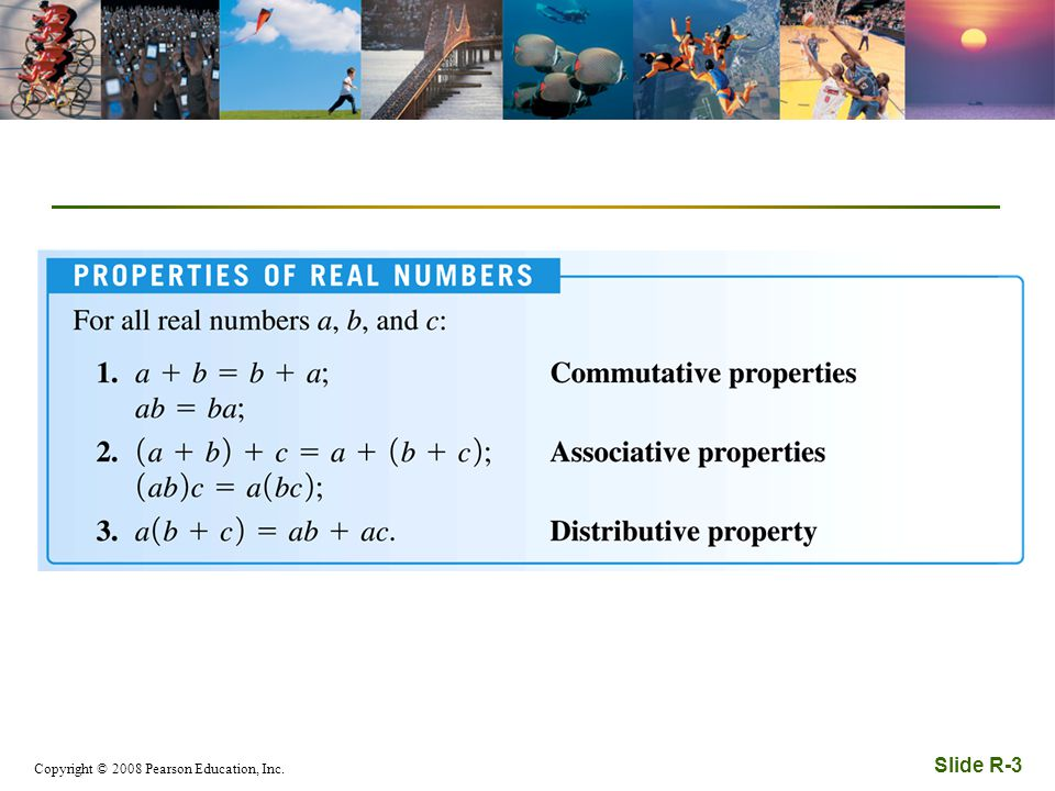 Copyright © 2008 Pearson Education, Inc. Slide R-3