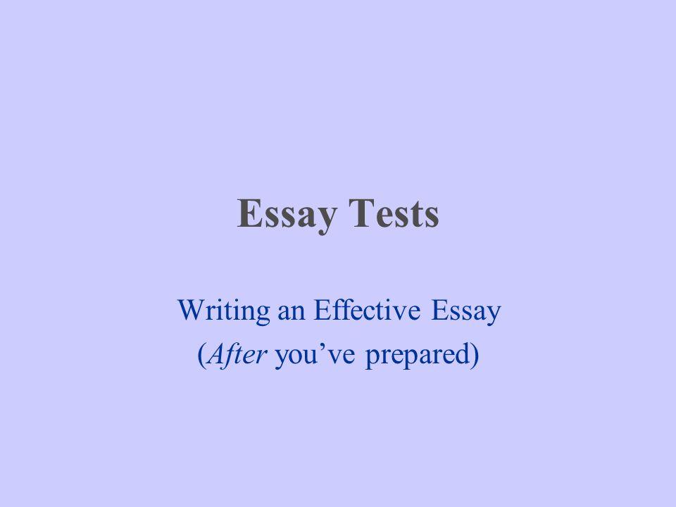 Writing an effective essay