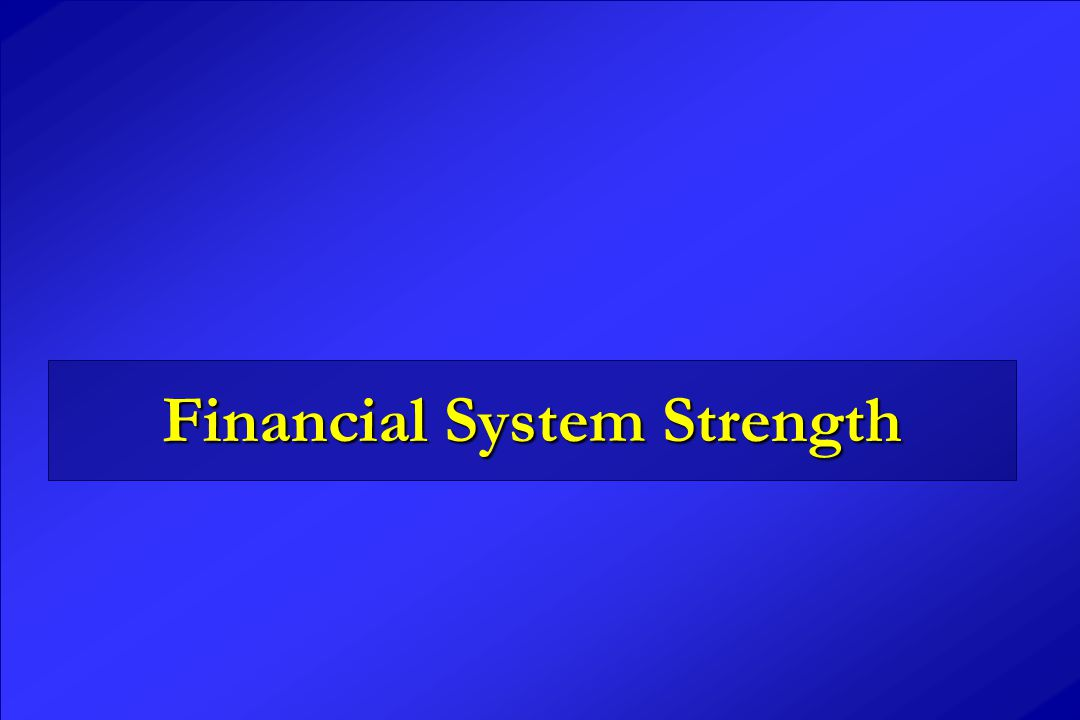 Financial System Strength