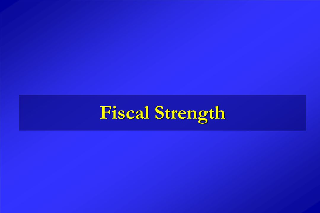 Fiscal Strength