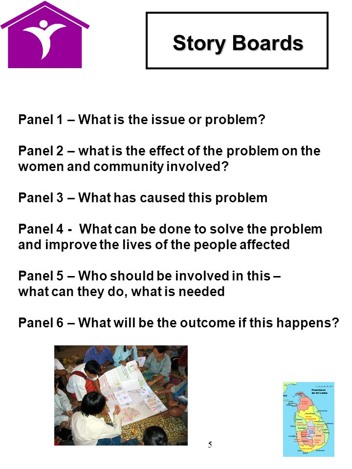 5 Story Boards Panel 1 – What is the issue or problem.