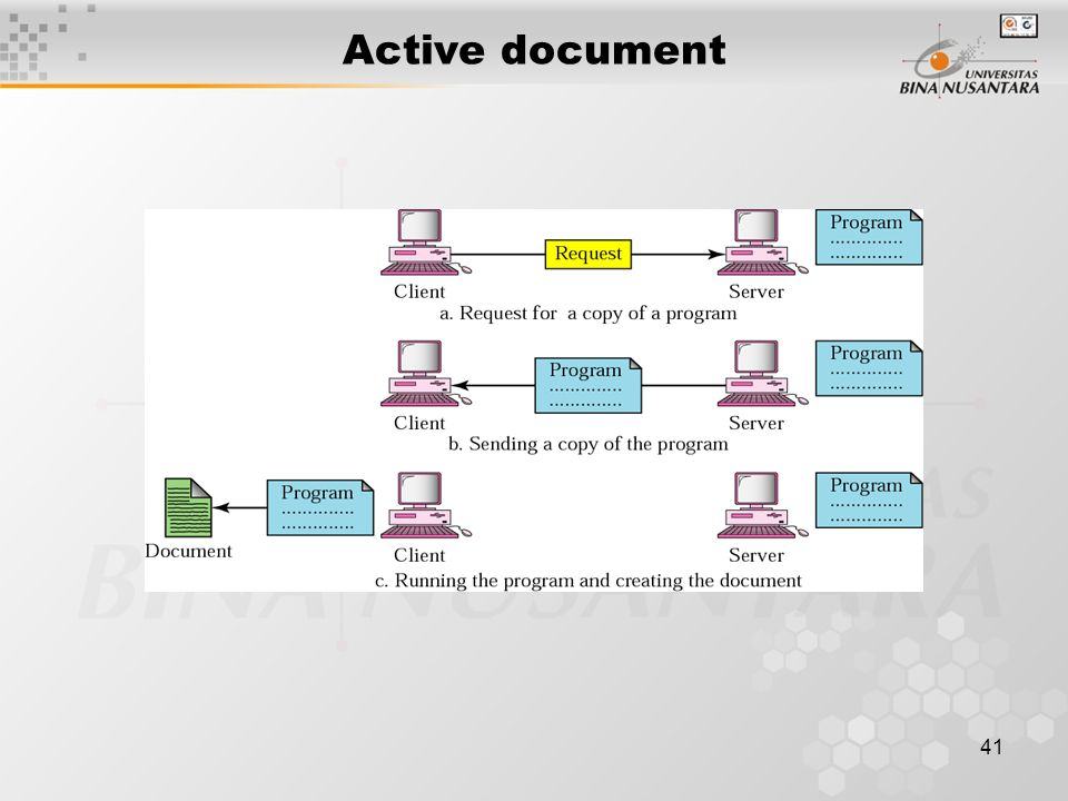 41 Active document