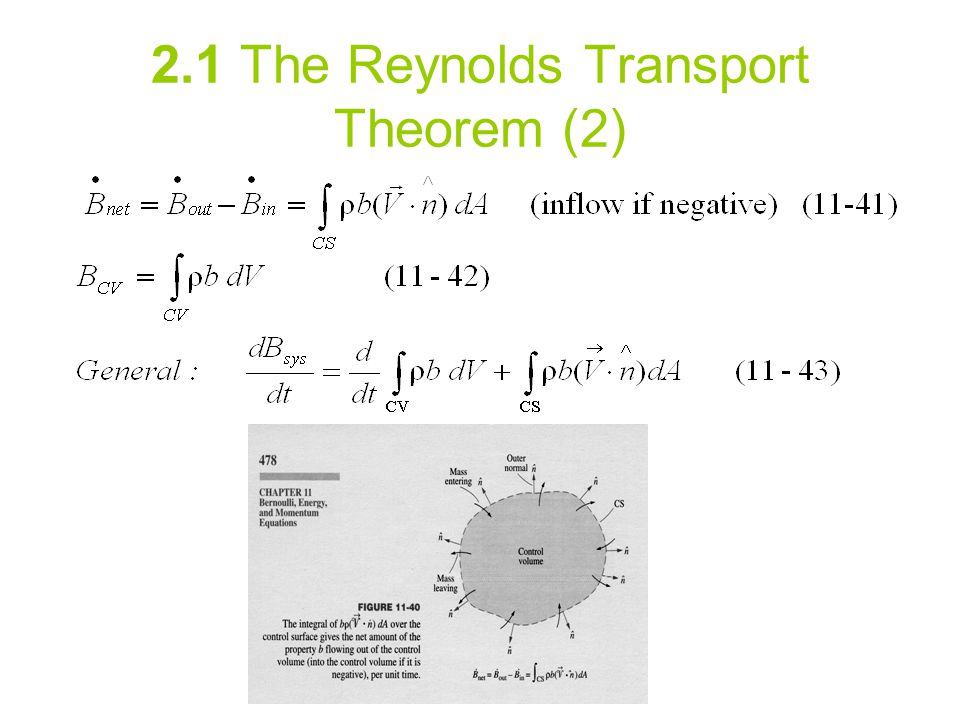2.1 The Reynolds Transport Theorem (2)