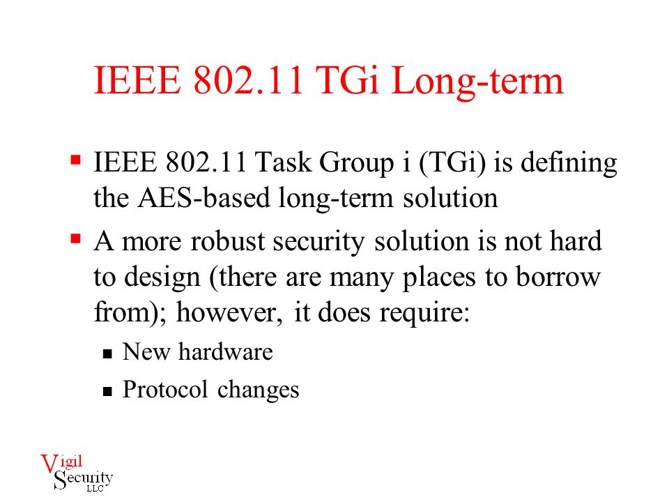 Free sample term paper on 802.11 security?