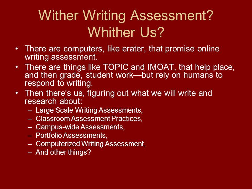 Online writing-assessment?