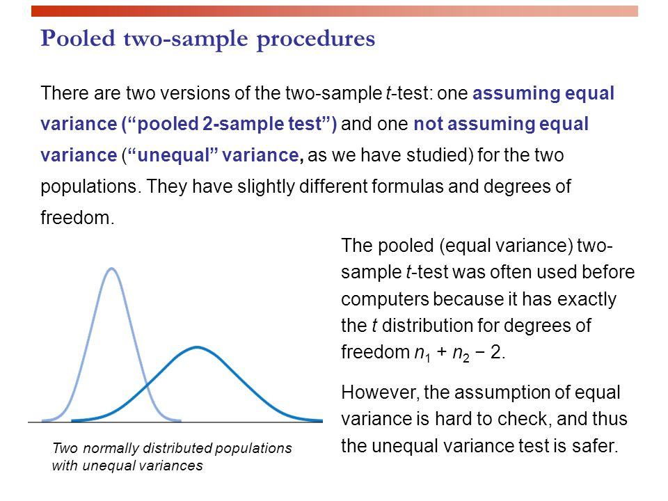 Inference for distributions: - Comparing two means IPS chapter 7.2 ...