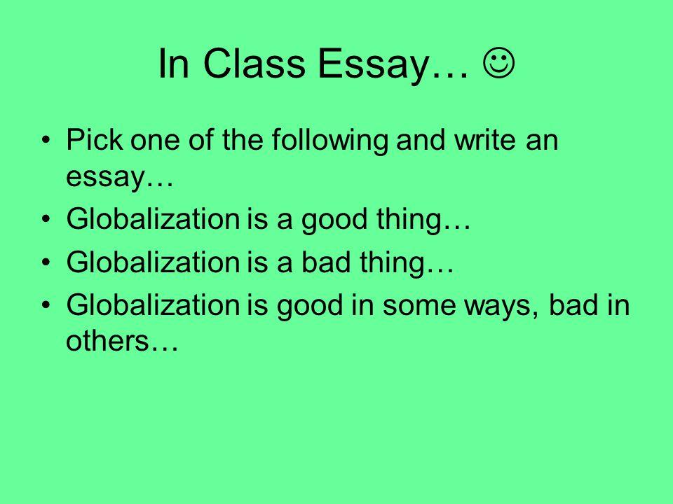 essay globalization good bad