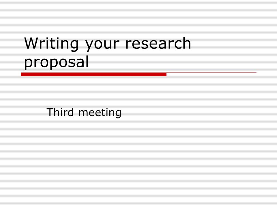 Research Proposal Writting