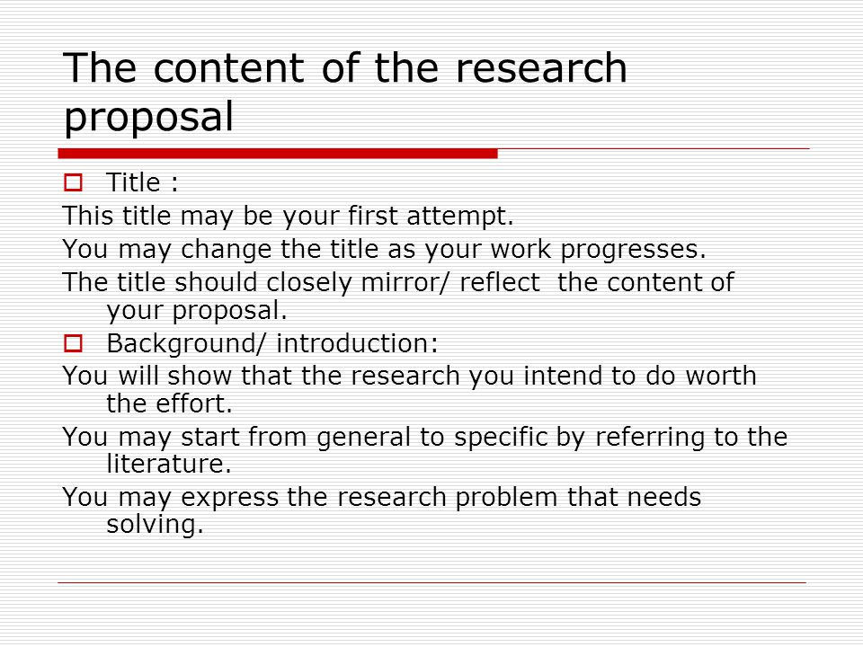 Writing Your Research Proposal Third Meeting Purposes Of The