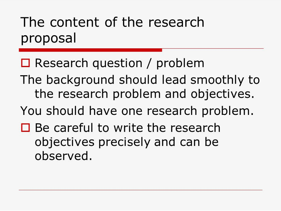 writting a research proposal