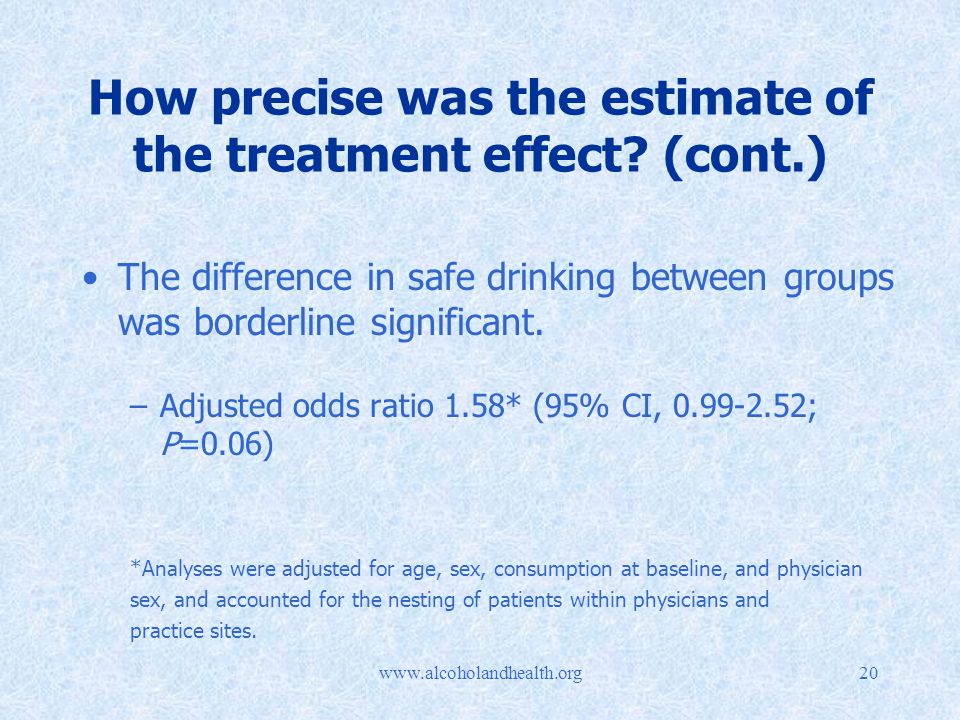 How precise was the estimate of the treatment effect.