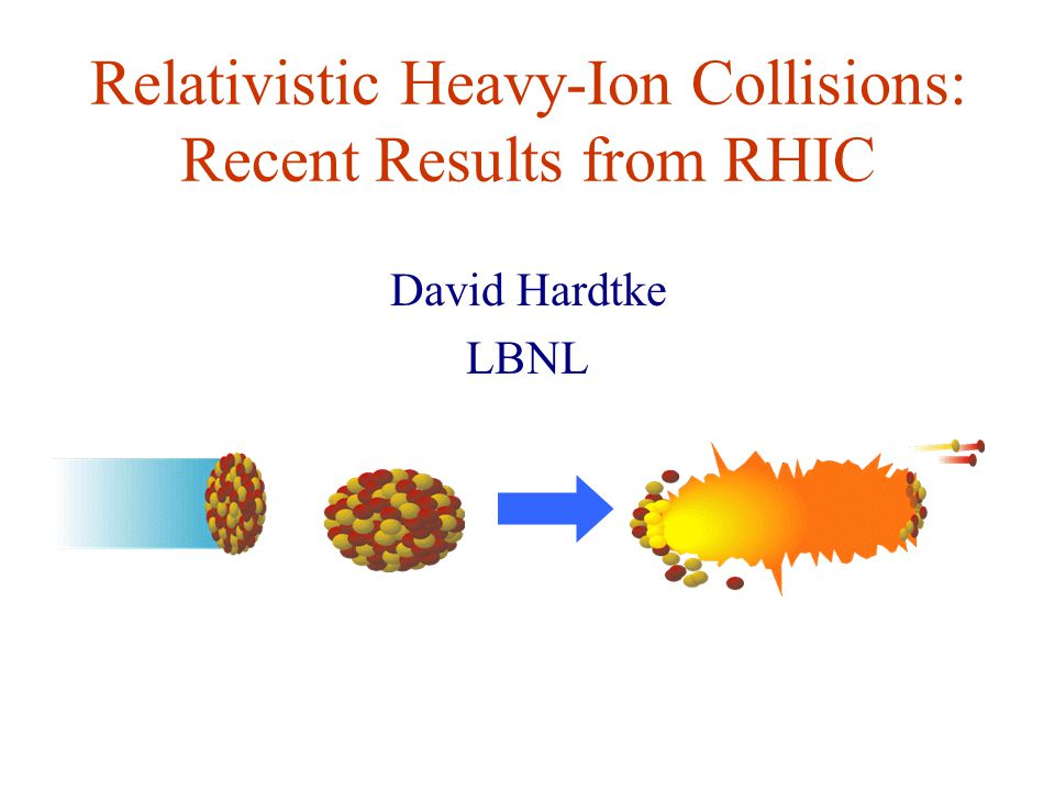 Relativistic Heavy-Ion Collisions: Recent Results from RHIC David Hardtke LBNL