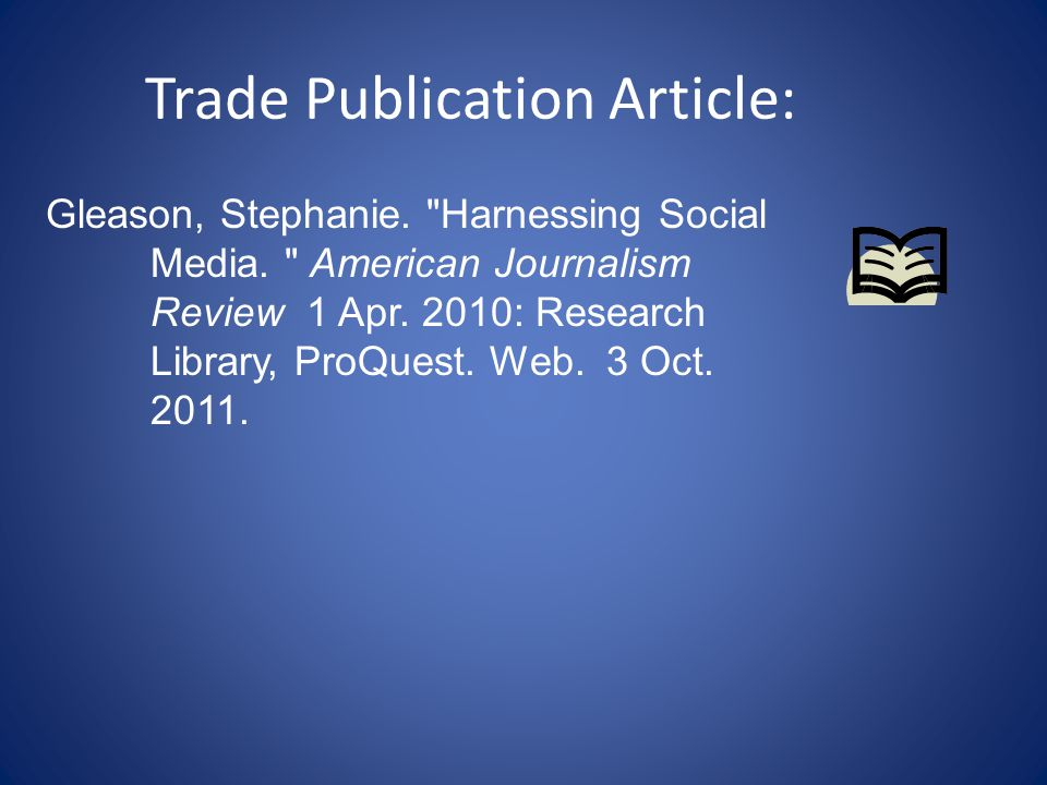 Trade Publication Article: Gleason, Stephanie. Harnessing Social Media.
