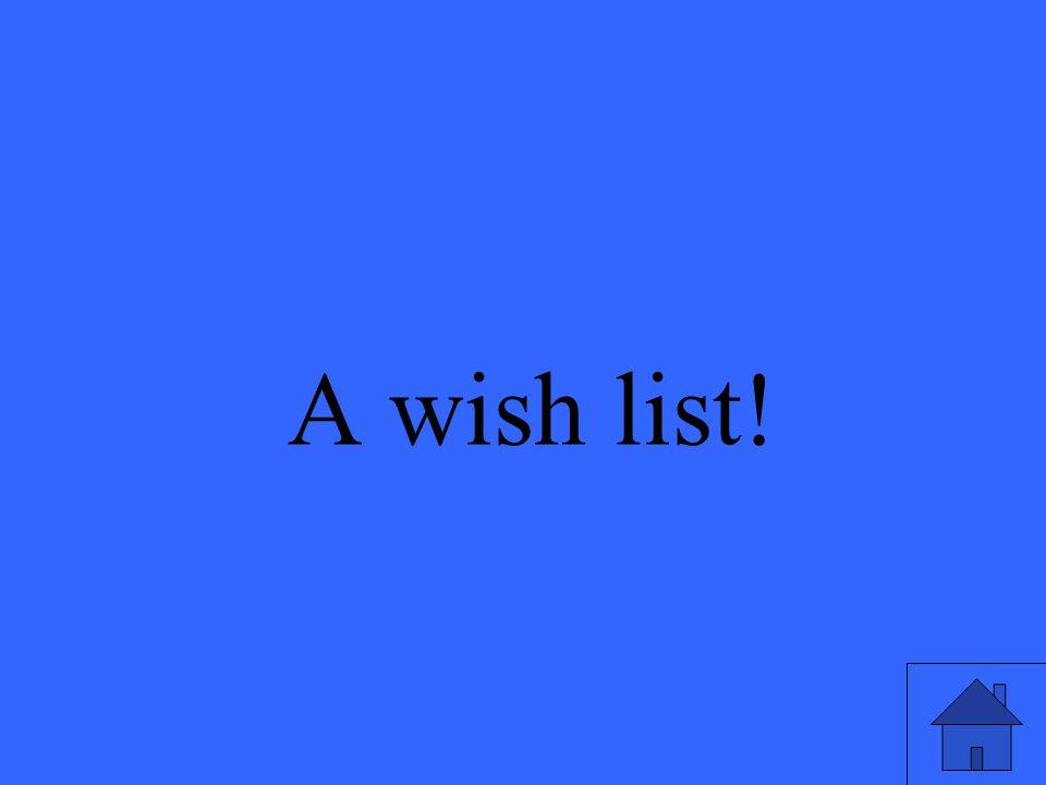 36 What do you send to santa