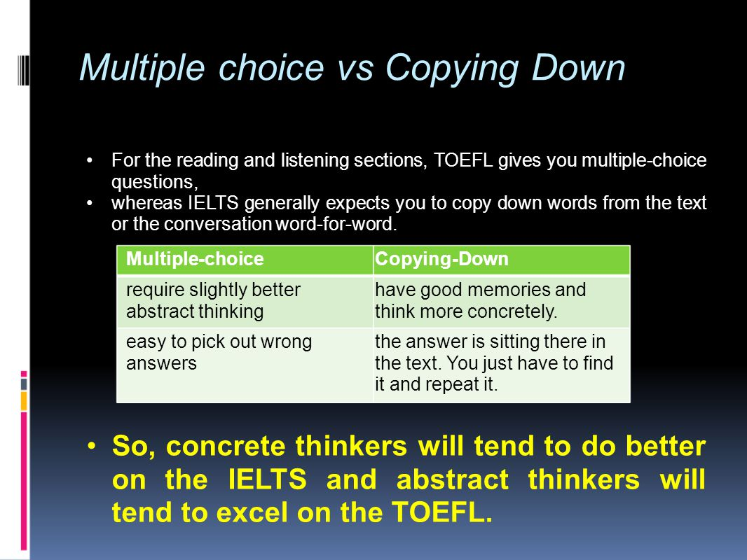english multiple choice questions