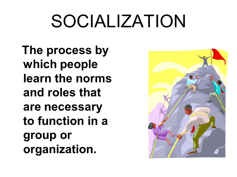 socialisation is process through which people Authors typically define socialization as the process through which an form of people and task affecting the socialization of newcomers into organizations.