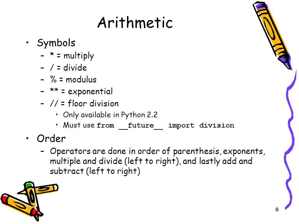 6 6 Arithmetic ...