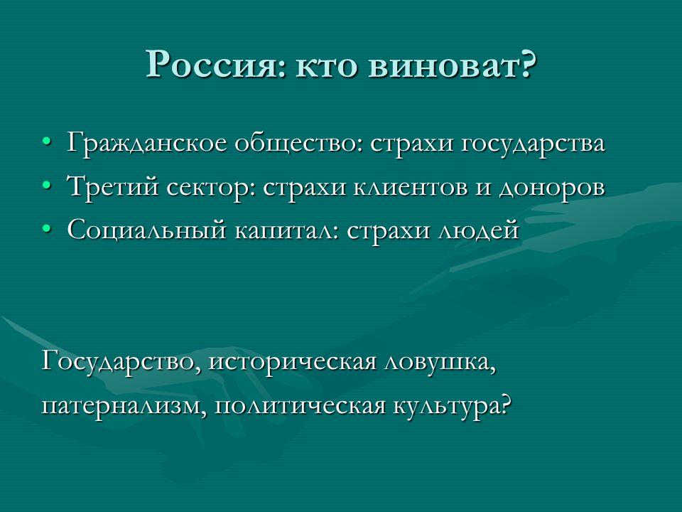 Россия : кто виноват.