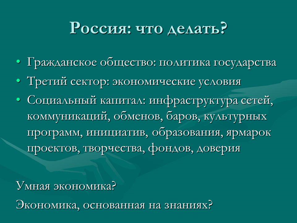 Россия: что делать.