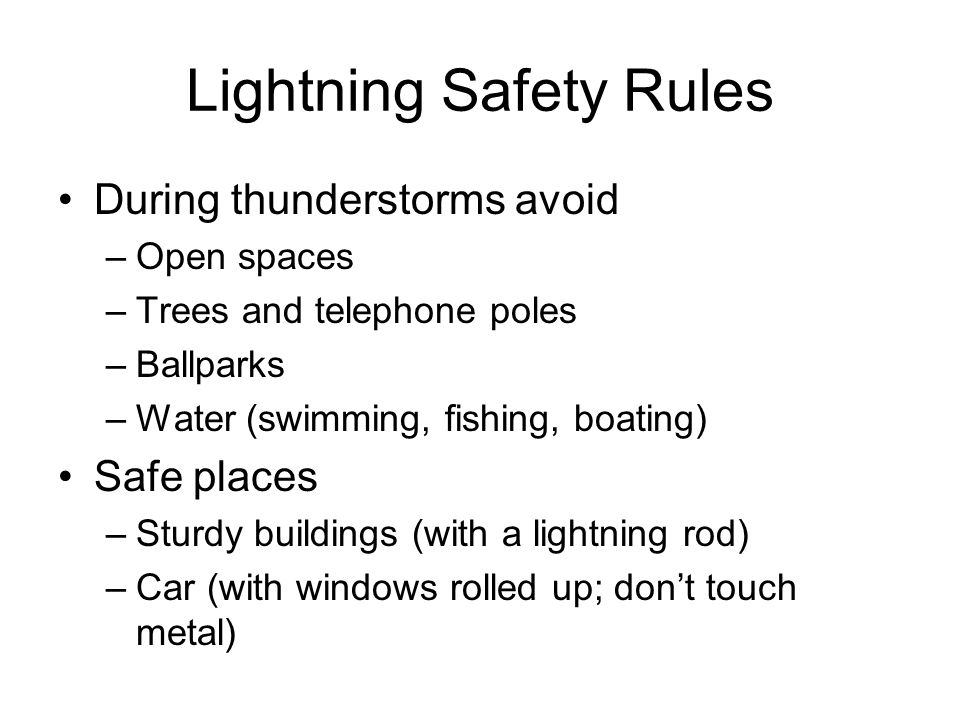 an overview of the dangers of lightning and measures to avoid it Lec have provided lightning  will allow a facility to better understand the dangers and analyze the lightning safety risk their site faces overview terms.