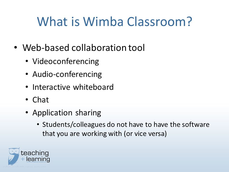 What is Wimba Classroom.