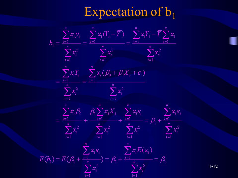 1-12 Expectation of b 1